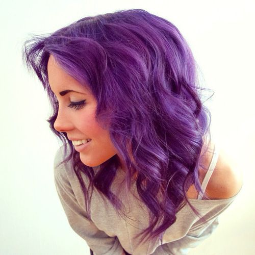 Superb Purple Purple Hair And Hair On Pinterest Hairstyles For Women Draintrainus