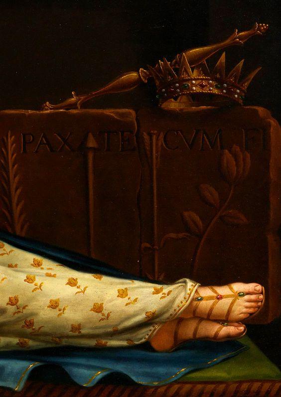 Saint Philomena of Rome, 1820. Detail.