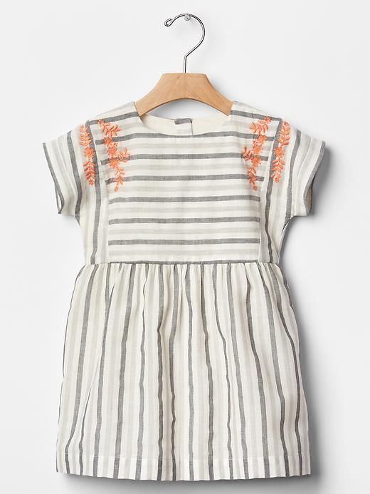 Embroidered stripe dress Product Image: