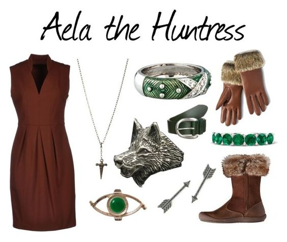 """""""Aela the Huntress"""" by captainrogers ❤ liked on Polyvore featuring Pinko, Merona, House of Harlow 1960, Hidalgo, ASOS, Gemvara, Liebeskind and skyrim"""