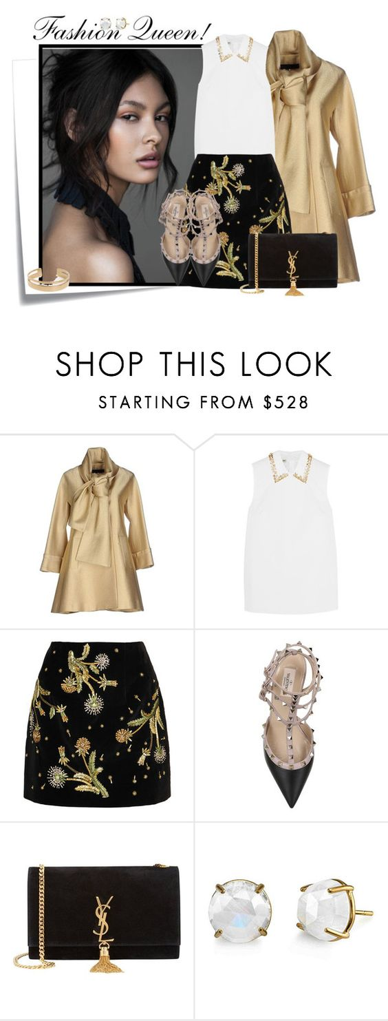 """""""...."""" by elenb ❤ liked on Polyvore featuring Post-It, Elie Saab, Miu Miu, Topshop Unique, Valentino, Yves Saint Laurent and Irene Neuwirth"""