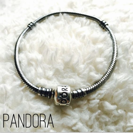 "Pandora Oxidized Sterling Silver Bracelet 100% AUTHENTIC. Excellent condition - only gently worn a few times. Charms are not included. 7.1"" long bracelet. Beautiful oxidized bracelet that will showcase your bright silver charms. The barrel is a shiny sterling silver clasp. No. 590702OX. I used to work at Pandora and acquired one too many pieces  Please, no trades or PP. Thanks for looking! Pandora Jewelry Bracelets"