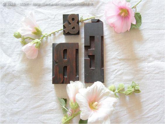 Une jolie typographie pour ces lettres d'imprimerie. www.lecomptoirdeviolette.fr