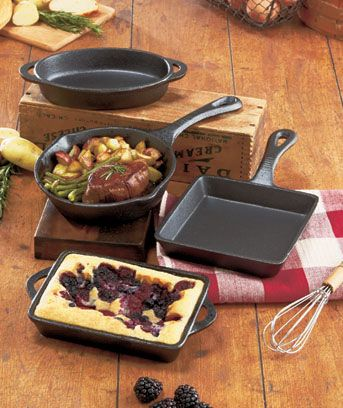 Old Mountain™ Cast Iron Cookware Pre-seasoned Old Mountain Cast Iron Cookware is ideal for cooking and serving small portions, like side dishes and individual helpings. Each piece's natural nonstick finish lets you prepare flavorful side dishes, skillets, casseroles and cakes with easy cleanup. It retains its temperature when you're serving or preparing your favorite hot or cold dishes. Bring it along on your next camping trip to prepare and serve tasty treats over an open fire. $5.55 each