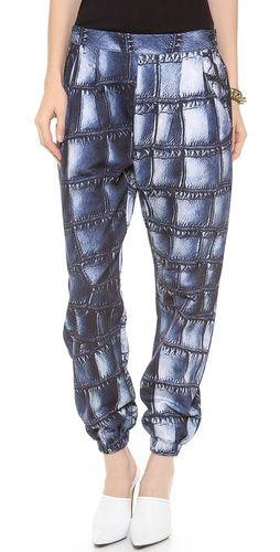 Emma Cook Croc Sweatpants @ ShopBop.com