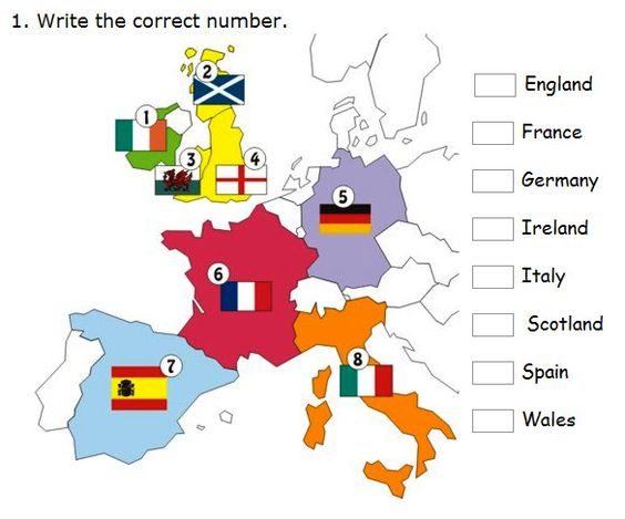 English    is    FUNtastic: European countries - interactive exercises