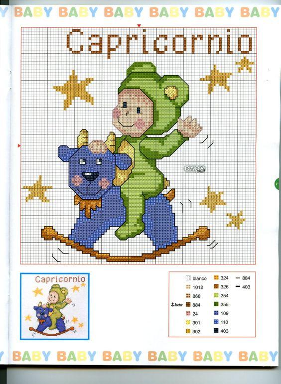 Schema punto croce Baby Oroscopo 4