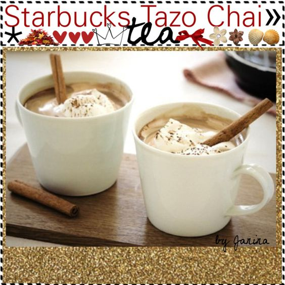"""Starbucks Tazo chai tea ♥"" by thebestcookbook"
