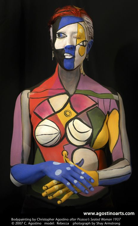 body_painting_8picassoseatedwoman_agostinoarts