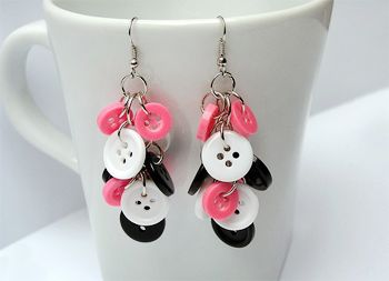 DIY Button Earrings | Blog! Exploring the Cute and Whimsical | Cabbeet