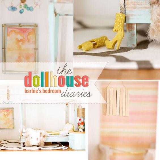 how to make a bedroom barbie dollhouse