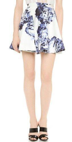 Blue floral Aline skirt