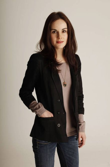 Michelle Dockery - I was once told I look like her.  This is currently my inspiration to eat healthy/exercise...