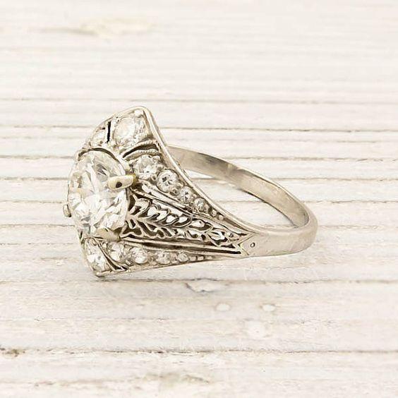 Antique platinum ring.