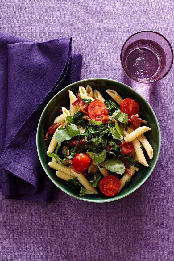 BLT Pasta #HealthyFamilyDinners | Healthy Family Dinners