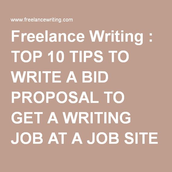 Freelance Writing  Top  Tips To Write A Bid Proposal To Get A