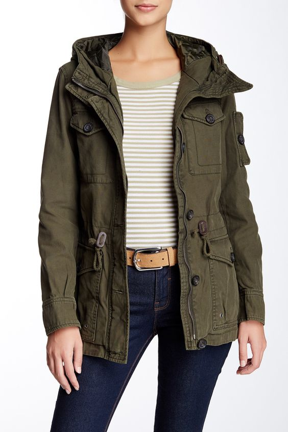 Hooded Military Jacket by Levi's on @nordstrom_rack