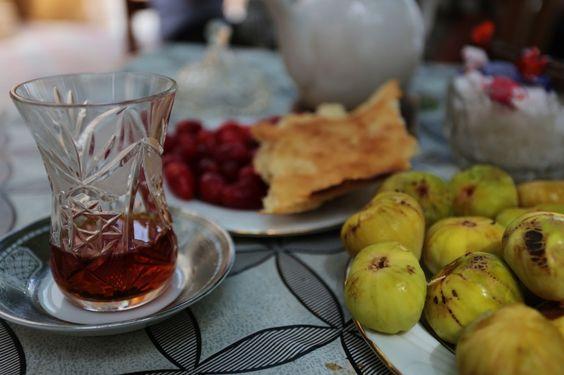 Tea time in Baku, Azerbaijan