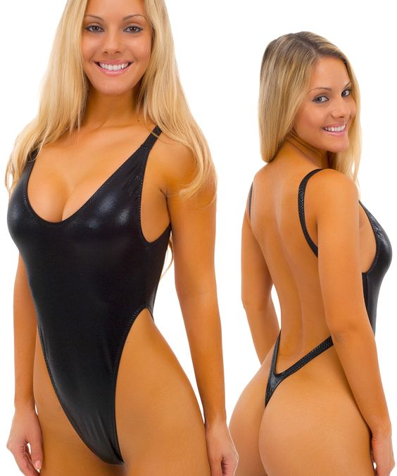 Swim, Thongs and Black one piece on Pinterest