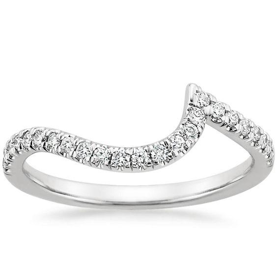18K White Gold Venus Diamond Wedding Ring from Brilliant Earth