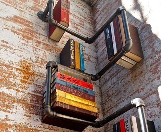 11 Estantes de baixo custo para Livros