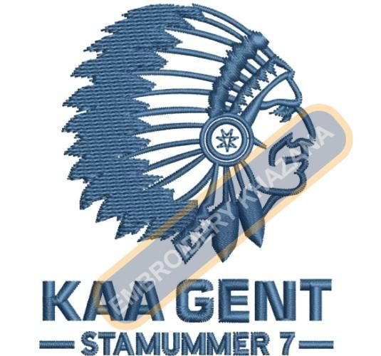 kaa gent logo embroidery design | branded popular logos embroidery