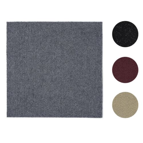 12 Pcs Self Adhesive Solid Carpet Tiles Actual 12 X 12 Red Gray Black Beige Ebay Carpet Tiles Diy Carpet Boho Carpets