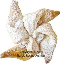 Christmas pastry dusted with icing sugar