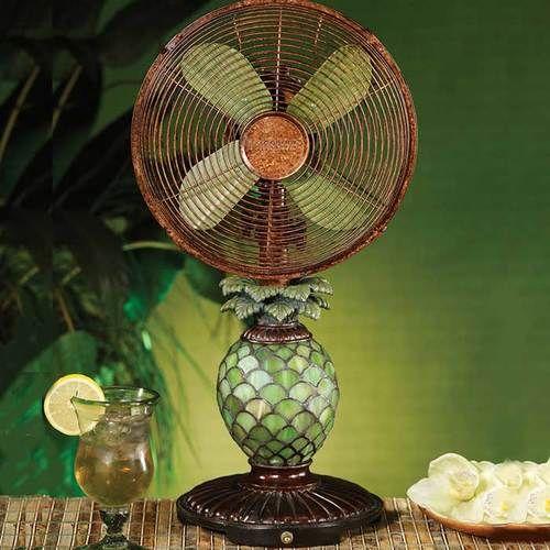 Pineapple Mosaic Table Fan Table Fan Fan Lamp Mosaic Glass