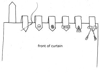 Tab top curtains buttons and arrows on pinterest for Small room karen zoid chords