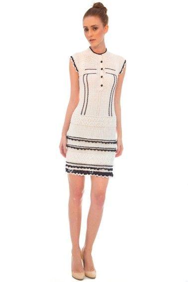 Vestido Chanel P&B - Vanessa Montoro - vanessamontoro