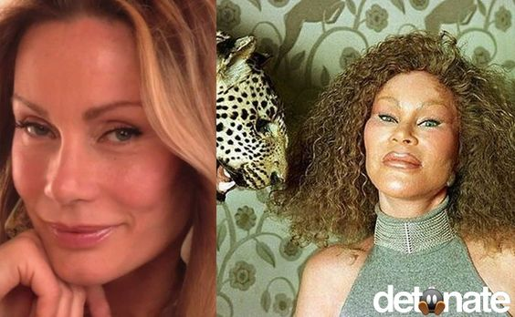Ever wonder what Jocelyn Wildenstein, aka the 'cat lady,' looked like before the plastic surgeries? Absolutely normal and quite nice-looking...
