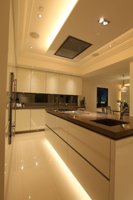 Lighting design by John Cullen Lighting - strip lighting at base of unit: