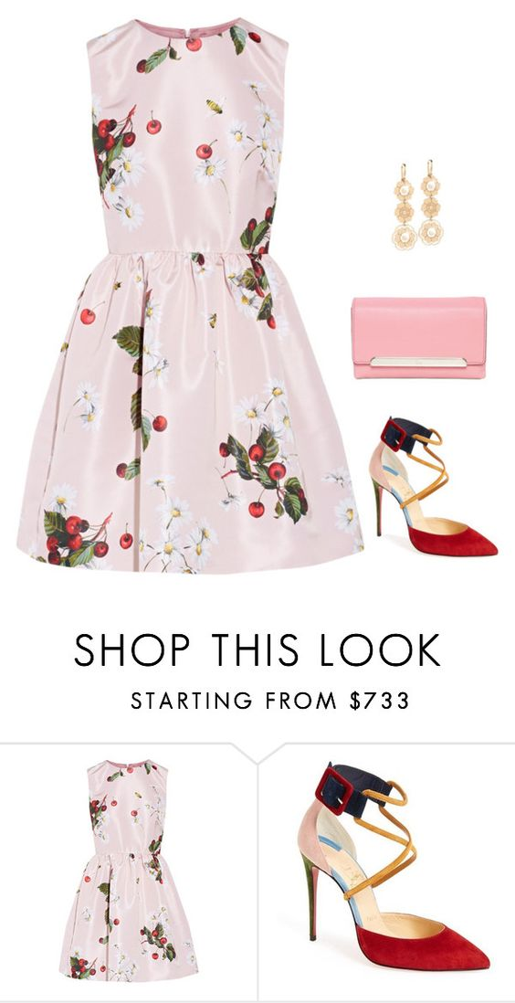 """""""Untitled #2738"""" by elia72 ❤ liked on Polyvore featuring RED Valentino and Christian Louboutin"""
