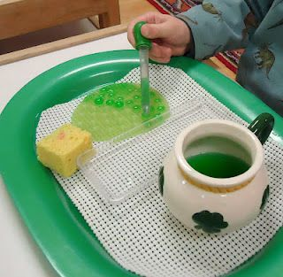 This website has excellent ideas for table top activities and centres - make a ribbon board to practice bow-tying, filling jars of water with a turkey baster, and prompts for practicing cutting along a line with scissors ...: