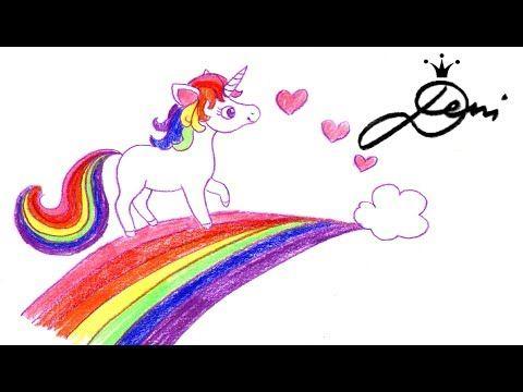 Einhorn Zeichnen Pegasus Regenbogen Schnell Zeichnen Lernen Unicorn Drawing Risuva Ednorog Youtube Unicorn Drawing Glitter Pens Unicorn