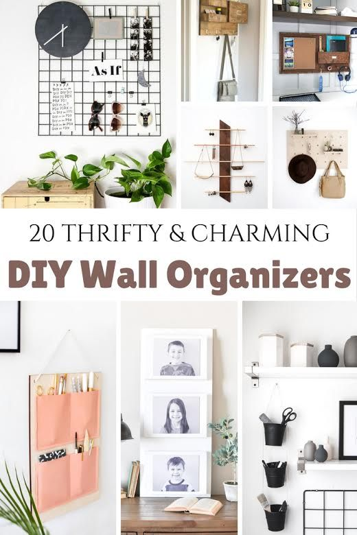Diy Wall Organizers Wall Organization Diy Organization Diy Wall