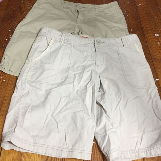 Bermuda shorts bundle Preloved striped shirts has a small stain on the front pocket. Union bay and mossimo Shorts Bermudas