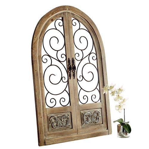 White Rustic Arch Wall Decor Pier 1 Imports Arched Wall Decor Tuscan Decorating Mediterranean Decor