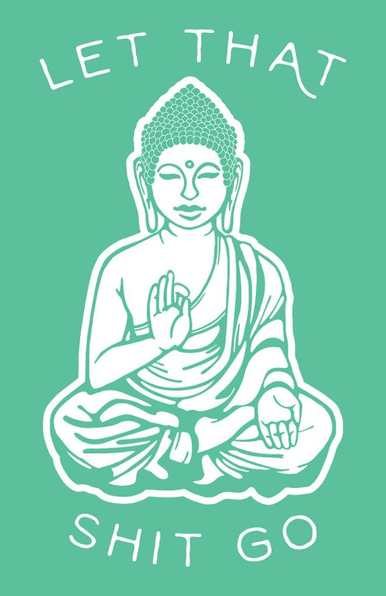 Laissez aller Bouddha vert impression d'Art par SundazeSociety