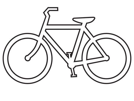 Clip Art Bicycle Route Sign Black White Line Clipart Best Clipart Best Bicycle Drawing Bicycle Art Bicycle Tattoo
