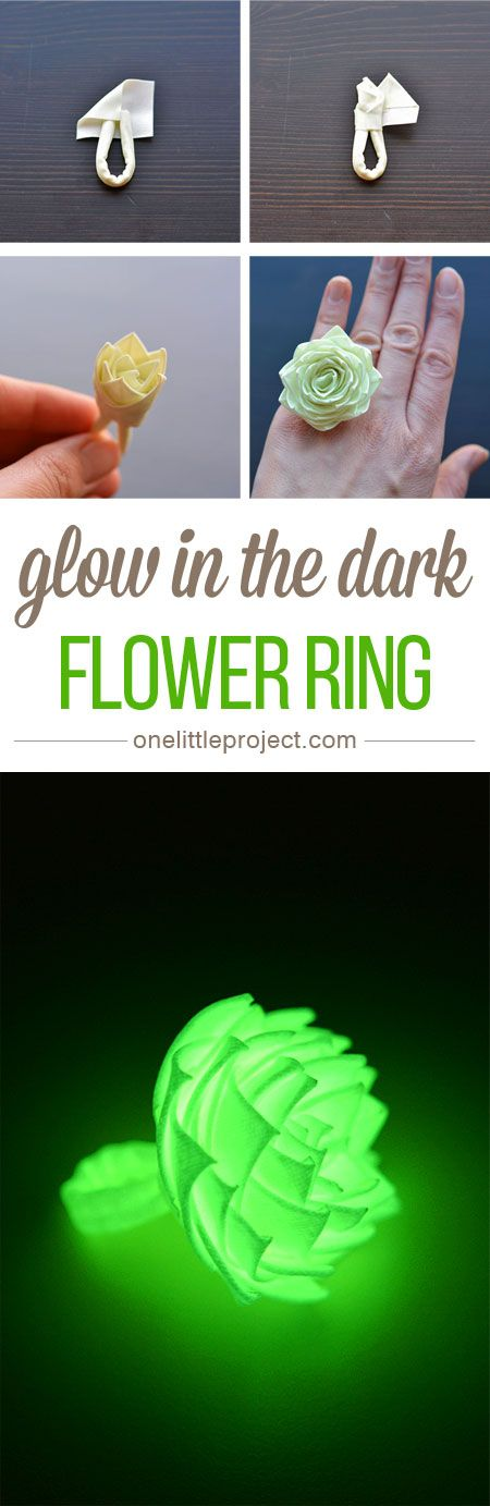 This duct tape flower ring was so easy to make and it's ADORABLE! It only takes about 20 minutes to make and it actually glows in the dark! So fun!