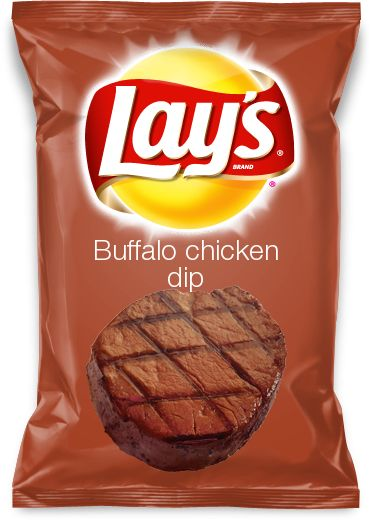 Buffalo chicken dip flavored lays