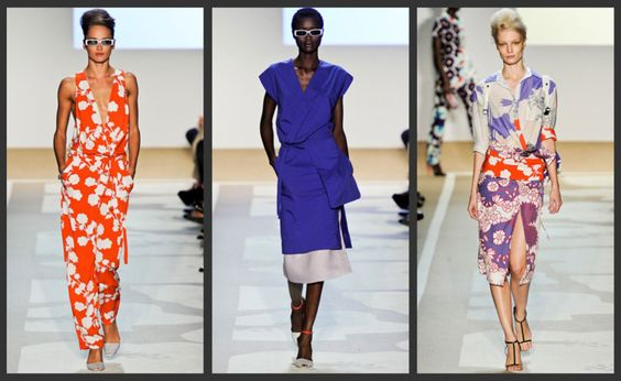 Spring 2012 collection of bold wraps from DVF