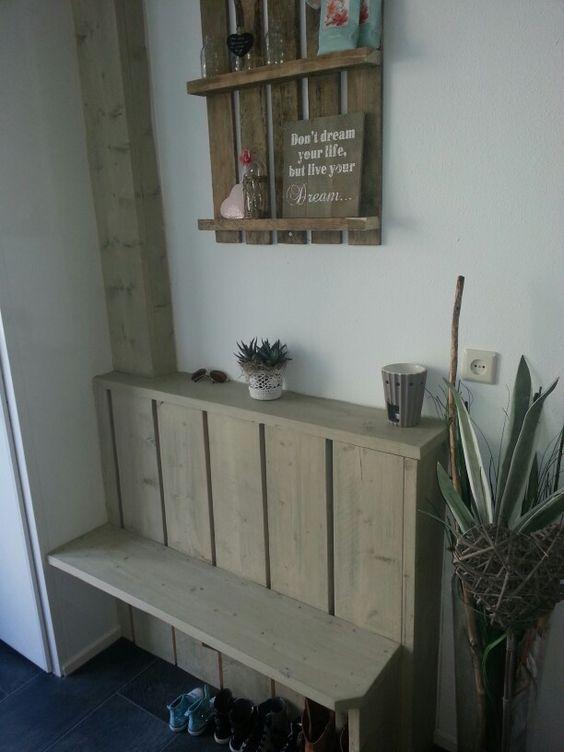 Verwarming ombouw van steigerhout home decoration pinterest tes nice and pallets - Deco gang huis ...