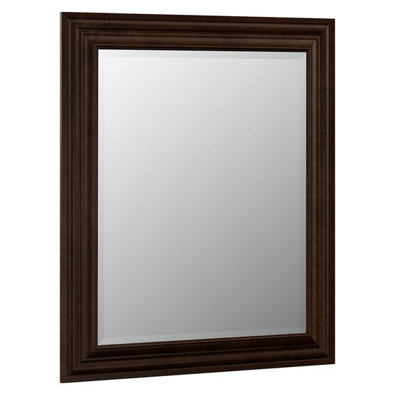 Bathroom Mirror Java villa bathrsi monroe 29-in w x 35.25-in h java rectangular