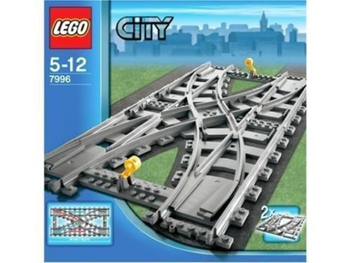 Train Crossover Track Building Kit for Lego RC Train R