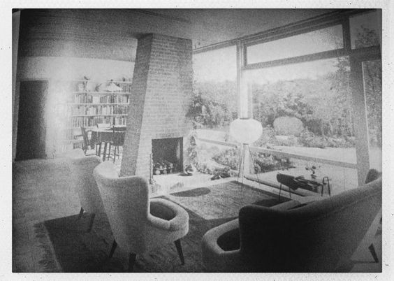 Brick fireplace (60s modernist bungalow book)