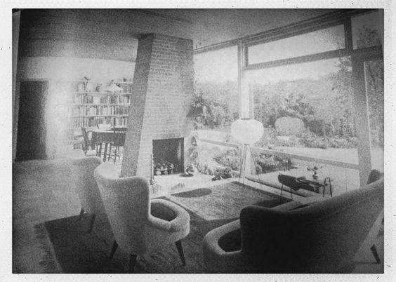 Brick fireplace (60s modernist bungalow book)