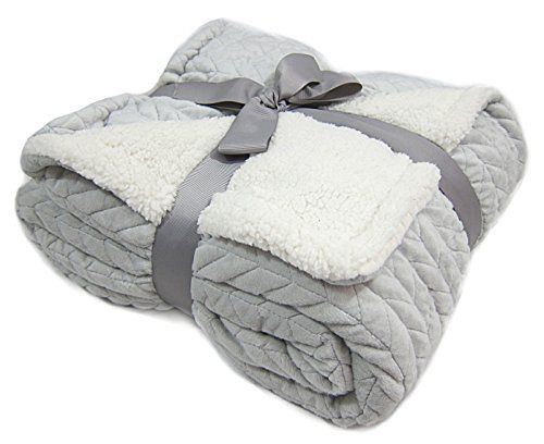 Plush Chevron Quilted Cable Throw Super Soft Mink Velvet